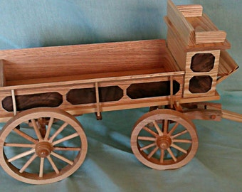 Wagon - vintage Freight Wagon  Wood  hand crafted