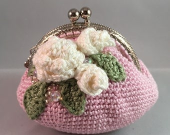 Pink with Rose *Coin Purse