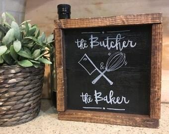 Box Frame, Small Rustic, Chalkboard Frame, Kitchen Decor