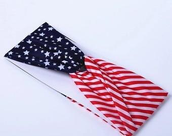 America Flag Headband