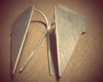 Dangle  earrings from silver 925 .built like collage .