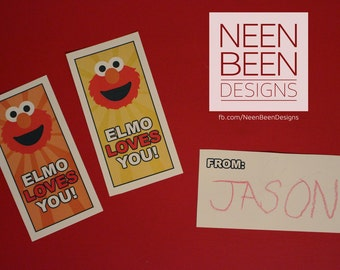 Elmo Inspired Valentines for Preschool and Kindergarten Children