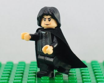 Professor Severus Snape Custom minifigure (Lego Compatible) Harry Potter Slytherin Sorcerer's Stone Deathly Hallows Half-Blood Prince Gift
