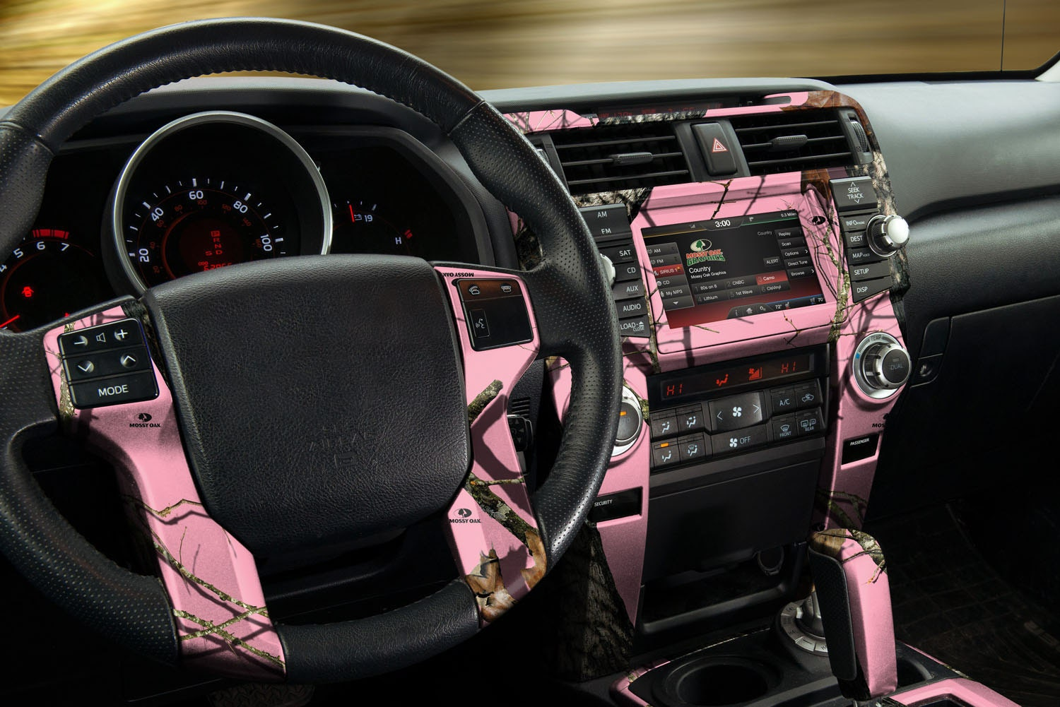auto interior skin camo dash kit in mossy oak break up pink. Black Bedroom Furniture Sets. Home Design Ideas