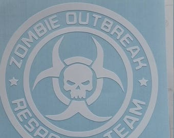 Zombie outbreak response team vinyl decal. Pick color & size. The Walking Dead Inspired. Apocalypse Hazard. Outdoor Vinyl. Biohazard Sticker