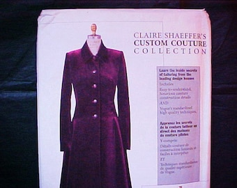 Vogue 7634 Claire Shaeffer Coat Pattern Custom Couture Collection Size 12 14 16 UNCUT