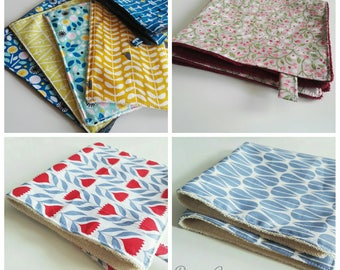 Cloth/wash towels, 2 in 1, organic, many patterns available