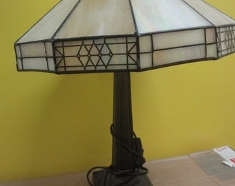 Tiffany style table lamp with shade beautiful  height  54cm    220/240v