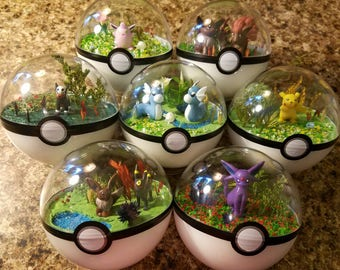 Custom Order Poke'rarium! Pokemon Pokeball Terrarium!