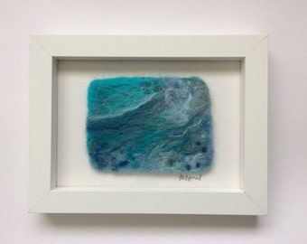 Needle felted picture 'The Wave'