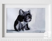 French bulldog thumbnail - graphics / drawing dog - framed - picture ready for hanging. Its original hand made, not a print
