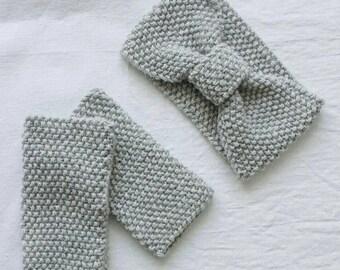 Grey Bow Tie set by BOHEMIAN LAVANDA