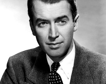 James Stewart Film Actor Glossy Hollywood Black & White Photo Picture Print A4