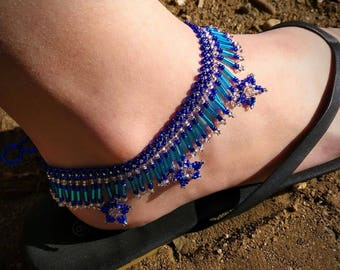 Beaded anklet,anklets,habd beaded anklet