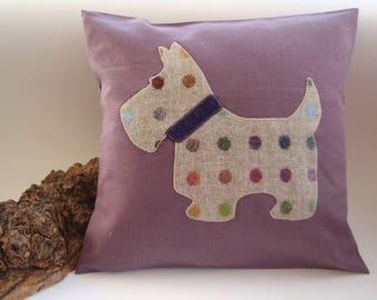 Spotty Scottie Dog Cushion