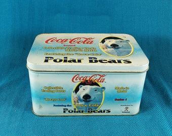 Coca-Cola Collectable Metal Trading Cards Polar Bears