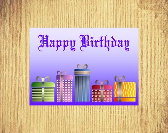 Presents for You ~ Birthday Card ~ 5 x 7 ~ Digital Download Only
