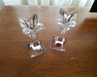 Bleikristall Bavaria W. Germany candle holders