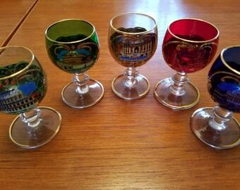Vintage Italian cordial glasses