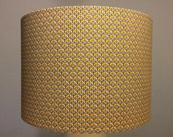 Handmade lampshade, beautiful repeated geometric pattern.