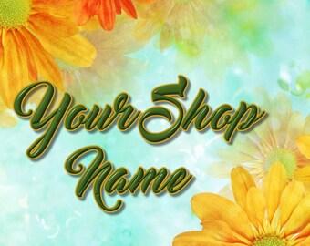 Shop Banner Set, Shop Banner, Premade Banner, Etsy Shop Banner, Floral Banner Set, Banner Design, Custom Banner Set, Sunflower Banner,