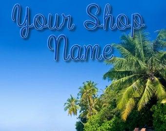 Shop Banner, Premade Banner, Custom Banner, Shop Set, Shop Design, Shop Banner Set, Banner Set, Banner Design, Cover Photo, Ocean Banner Set