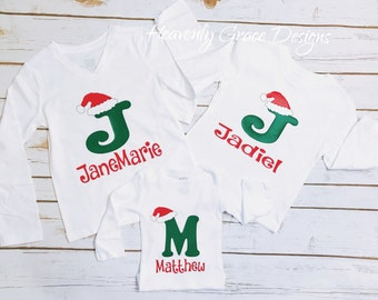 Personalized christmas shirt/ kids christmas shirt/ kids christmas outfit/ santa shirt/ kids santa