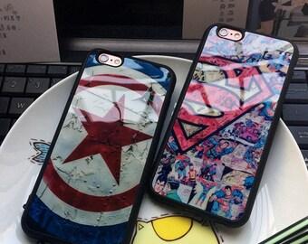 Custom Iphone Smart Phone Super Hero Superman Vs Captain American