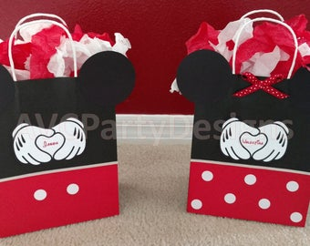 Minnie mouse, Mickey mouse Birthday Party Favor Bags