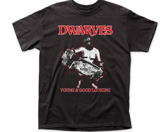 Dwarves Young & Good Looking 18/1 Men's Traditional Cotton Tee (DW05) Black