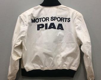 Vintage PIAA Motorsport Jacket Zip Up Motorsport Clothing Unisex Adult Big Size