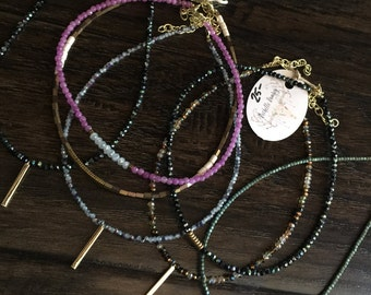 Beaded chokers with extenders Pick one