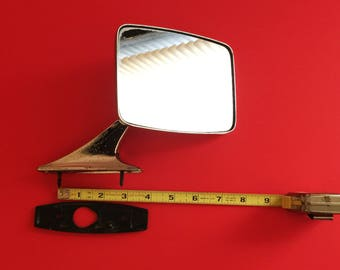 Vintage 1970's Chrome Car Mirror, Good Restoration Mirror, Hot Rod Mirror   - B4