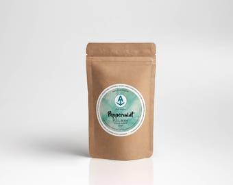 Peppermint Full Body Sugar Scrub Refill [Vegan & Organic] Teal Anchor