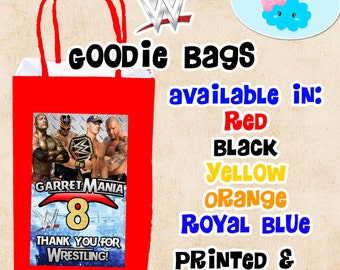 WWE Goodie Bags, WWE Candy Bags, WWE Party Favor Bags