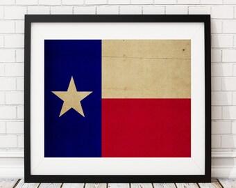 Texas Flag Wall Art | Etsy Part 68