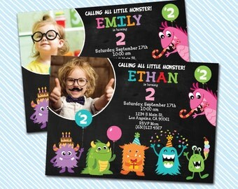 Digital Printable Monster Birthday Invitation. War Game invitation. Girl invitation. Boy birthday