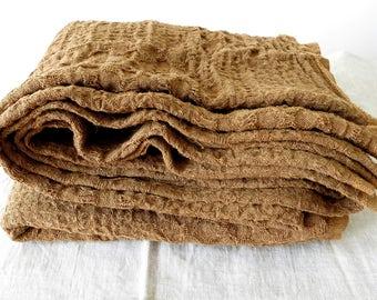 Linen blanket /  Brown linen blanket/ Summer blanket