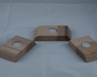 Single Wooden Tea Light Holders
