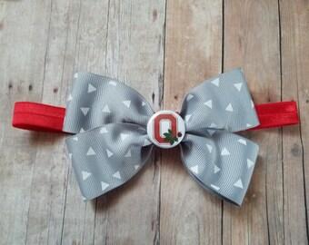 ohio state headband-OSU infant headband- ohio state bow headband-Ohio State girl shower gift-ohio state headband-ohio state for baby girl