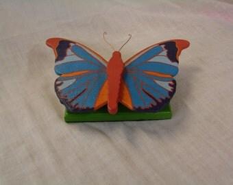 Fluttering Wooden Butterfly