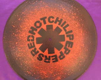 Red Hot Chili Peppers Spray Painted Record Clock