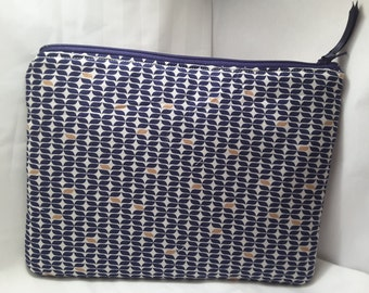 blue patterned bag , Blue purse, blue clutch