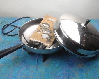 Vintage, twelve inch, farberware electric frying pan.