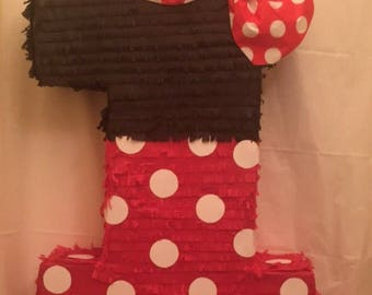 Minnie Mouse Number Pinata (All Numbers Available)