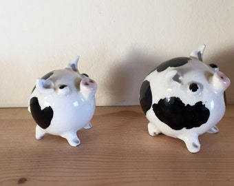 Perfect Pair of Perky Pottery Pigs