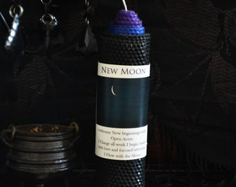 New Moon Candle for New Beginnings and Intention Setting