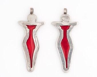 Vintage Celtic Zephyrus Sterling Silver Pendant, VJ #554