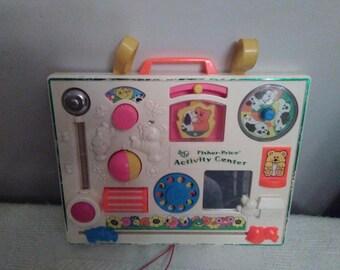 1972  Fisher Price FP Activity Center Crib Baby Toy (RARE)
