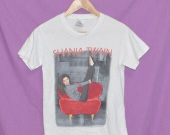 Vintage 90s Shania Twain Country Music Tour Concert T-Shirt Youth Size